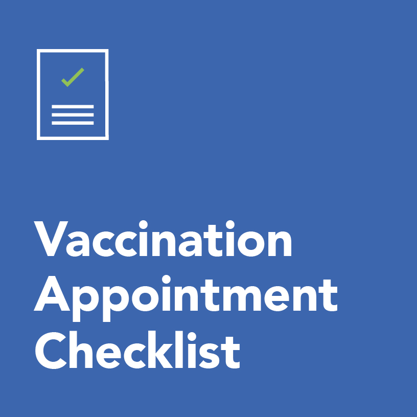 Vaccination appointment checklist
