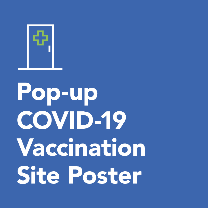 Pop-up COVID-19 vaccination site poster