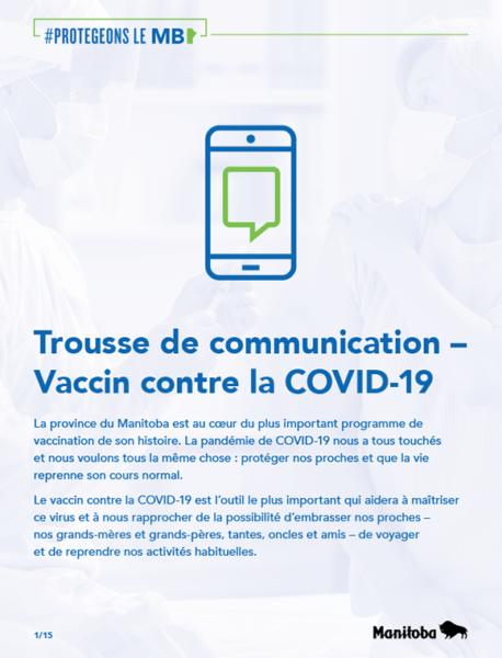 Trousse de communication - vaccine contre la covid-19
