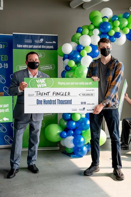 Trent Fingler, Vax to Win Lottery Winner