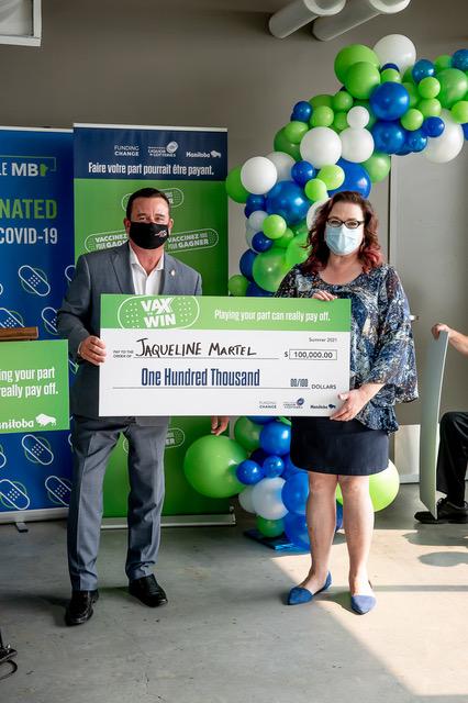 Jacqueline Martel, Vax to Win Lottery Winner