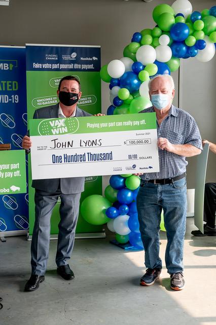 John Lyons, VAX to WIN Lottery