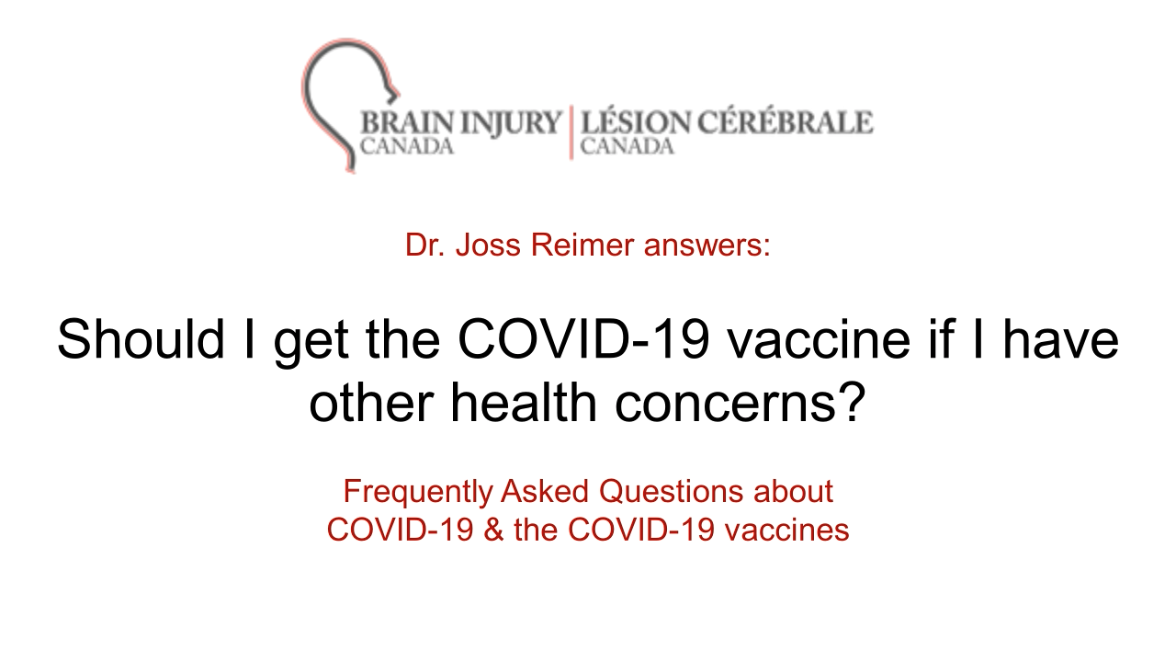 Should I get the COVID-19 vaccine if I have other health concerns?