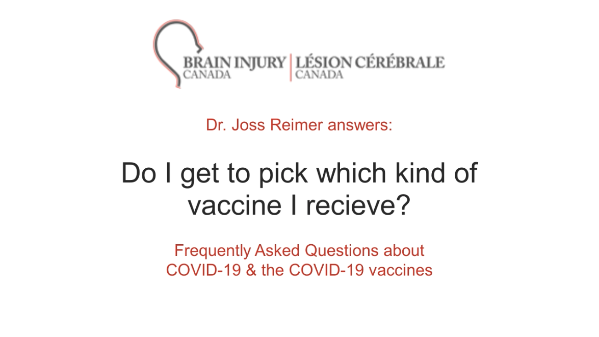 Do I get to pick which kind of vaccine I receive?